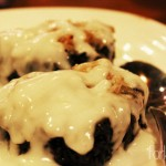 Black Sticky Rice with Coconut in Palm Sugar Caramel Topping