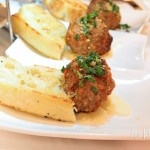 Meatballs with Garlic Crostinis