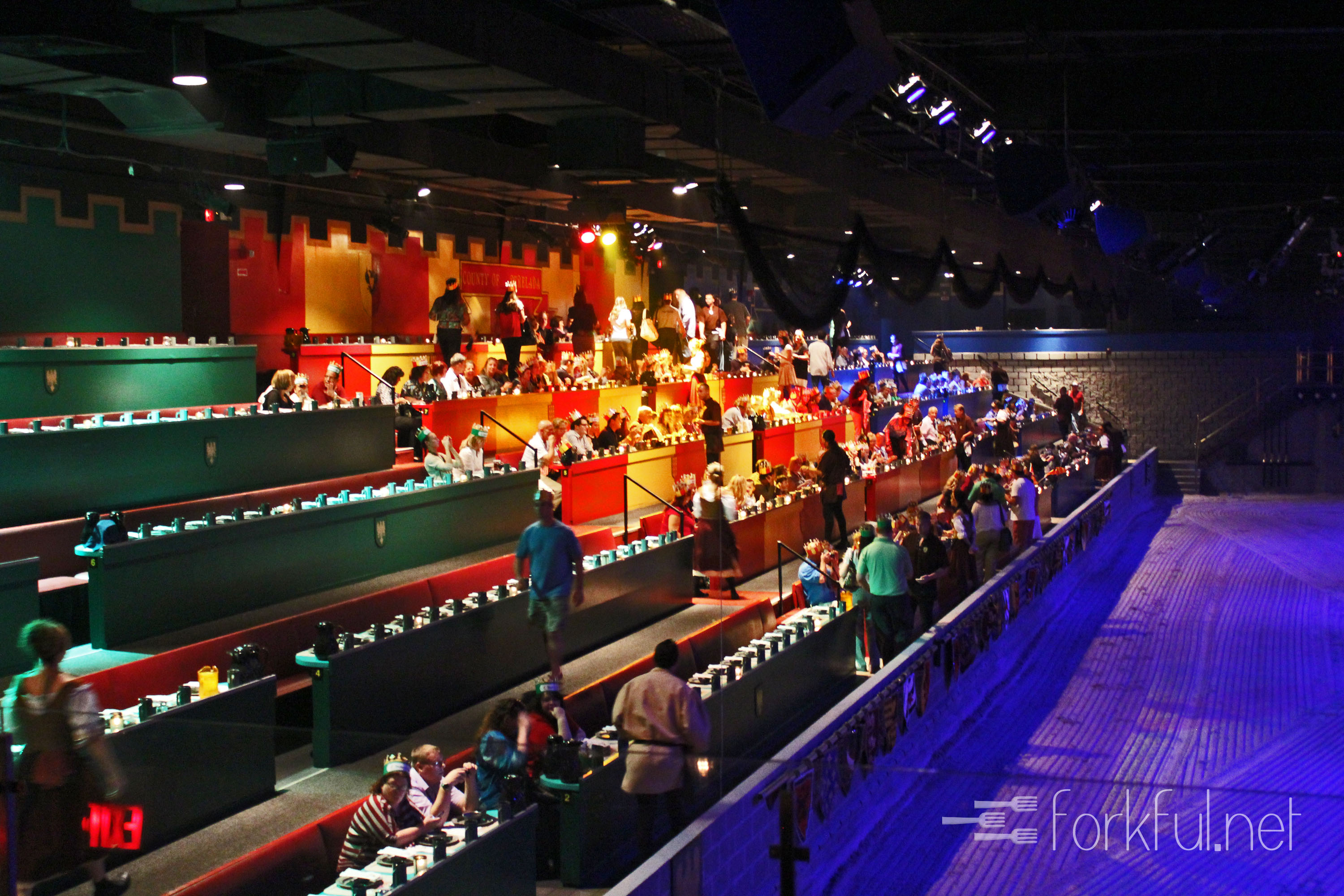 At Medieval Times, armor-clad knights clash for the title of King's Champion in front of a wide-eyed audience that fills the battlefield with cheers and jeers between bites of a four-course dinner. Each two-hour tournament channels the pageantry and spectacle of 11th-century Spain, pitting six competitors against each other inside a spacious arena for the honor of earning the title of champion Price: $