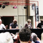 Megacon 2013 — Star Trek Panel From Left to Right: Brent Spiner, Michael Dorn, Denise Crosby, LeVar Burton