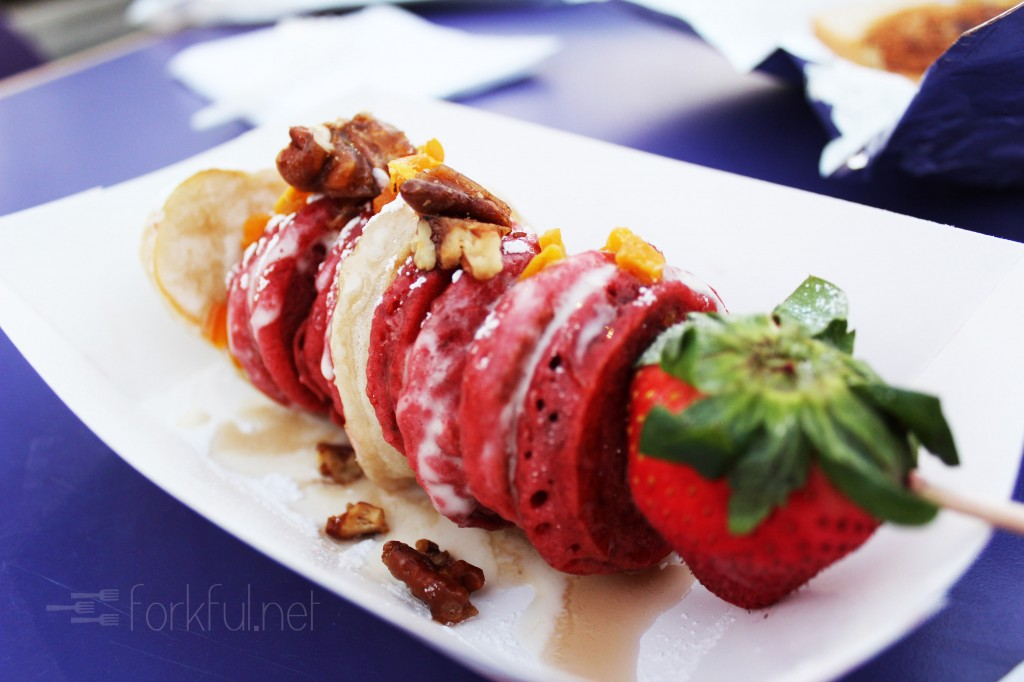 Curbside Chef — Red Velvet Pancake Skewer