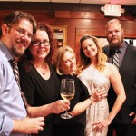 (Left to Right) Mr. Orlando Uncorked, Lisa (Orlando Uncorked), Ann (Lady Crafter), Colleen (Yelp Ambassador), Chris (Eat Local Orlando)