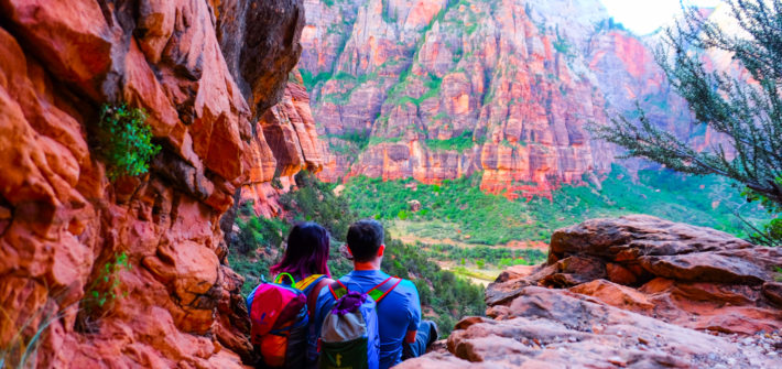 View from Lower Angel's Landing Trail, Photo by Adam Fortuna